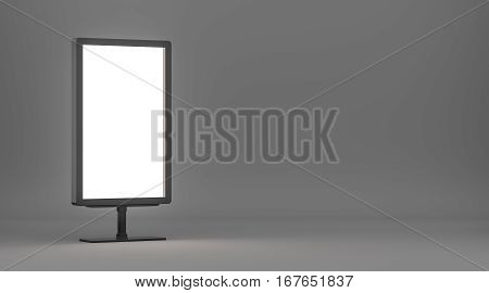 Lightboxe On Gradient Background. 3D rendering. Template for your Design