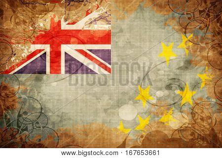 Grunge vintage Tuvalu flag