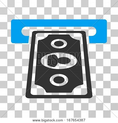 Cashpoint Terminal icon. Vector illustration style is flat iconic bicolor symbol blue and gray colors transparent background. Designed for web and software interfaces.