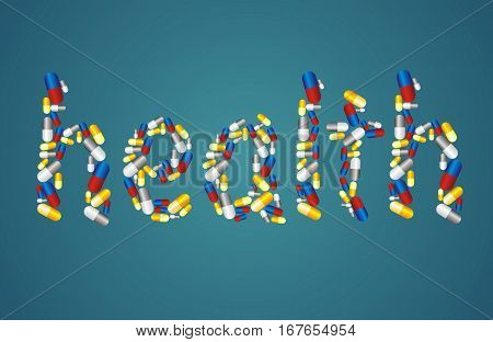 healthcare concept - the word