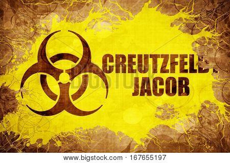 Grunge vintage Creutzfeldt jacob