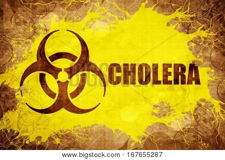 Grunge vintage Cholera