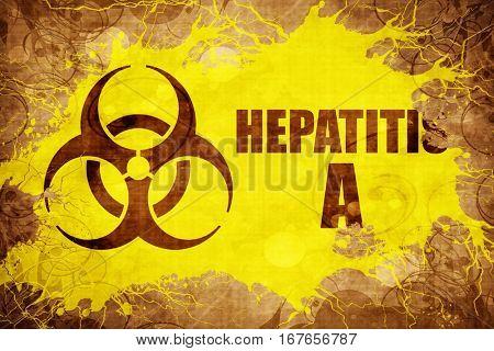Grunge vintage Hepatitis A