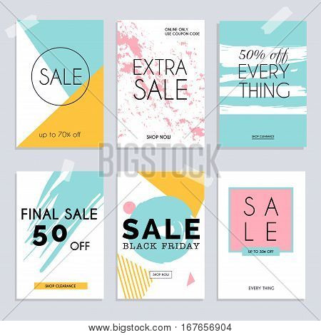 Sale website banners web template collection. Can be used for mobile website banners web design posters email and newsletter designs.