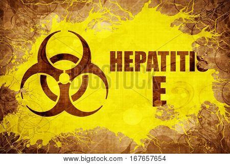 Grunge vintage Hepatitis E