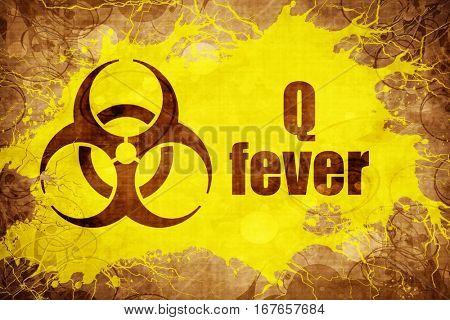 Grunge vintage Q fever