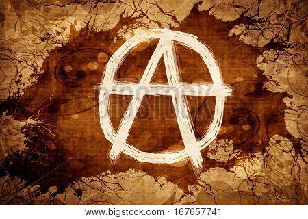 Grunge vintage Anarchy sign