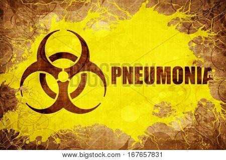 Grunge vintage Pneumonia