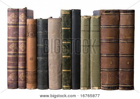 Isolated Row With Old Books