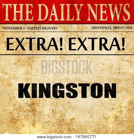 kingston, newspaper article text