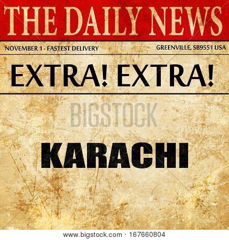 karachi, newspaper article text
