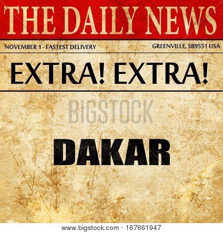dakar, newspaper article text