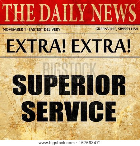 superior service, newspaper article text