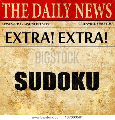 Sudoku, newspaper article text