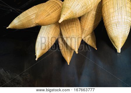 Vietnamese Old Traditional Bamboo Fish Trap