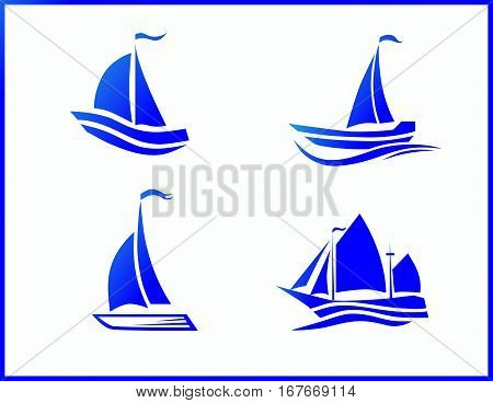 Stock Vtravel by sea or ocean a set of vector iconsector Icons boat at sea