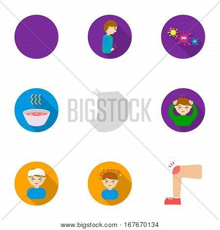 Sick set icons in flat style. Big collection io sick vector symbol stock