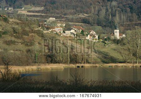 Chevelu Village In Savoy, France