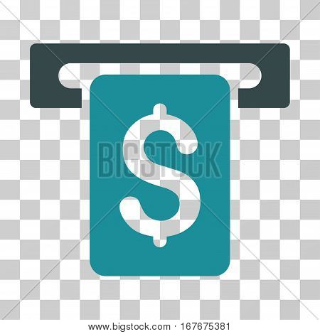Cash Withdraw icon. Vector illustration style is flat iconic bicolor symbol soft blue colors transparent background. Designed for web and software interfaces.