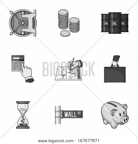 Money and finance set icons in monochrome design. Big collection of money and finance vector symbol stock illustration