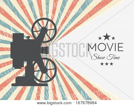 Cinema background or banner. Movie flyer or ticket template for your design