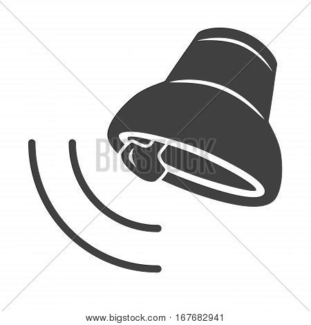 Ringing bell icon isolated on white background