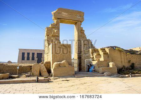 LUXOR, EGYPT - NOVEMBER 13, 2016: Ancient ruins of Karnak temple, Egypt, Luxor, 13 November, 2016