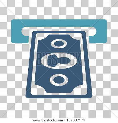 Cashpoint Terminal icon. Vector illustration style is flat iconic bicolor symbol cyan and blue colors transparent background. Designed for web and software interfaces.