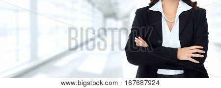 Hands of business woman
