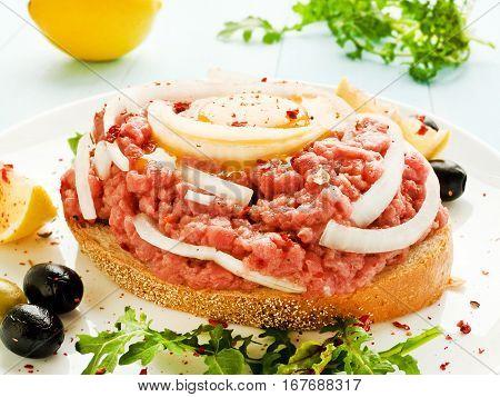 Beef Tartar Sandwich