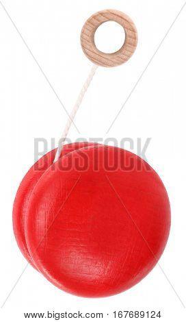 Red wooden yo-yo toy