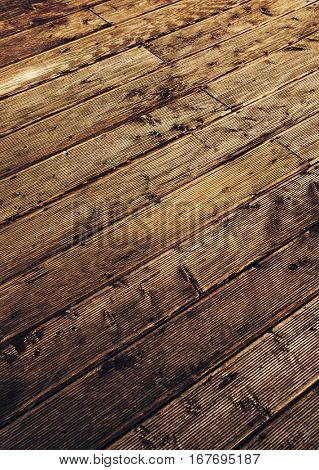 Wooden floor abstract background. Striped diagonal pattern and red contrast colors