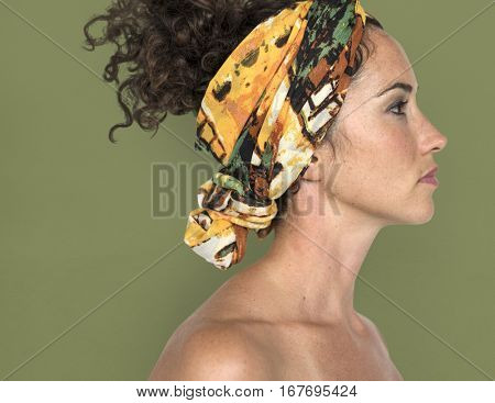 Caucasian Woman Side View