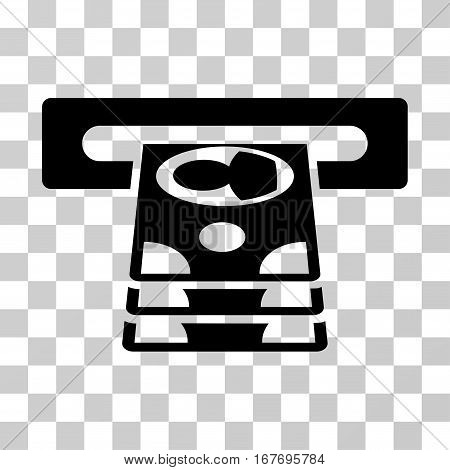 Cashpoint icon. Vector illustration style is flat iconic symbol black color transparent background. Designed for web and software interfaces.