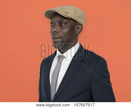 African Descent Man Hat Side Concept