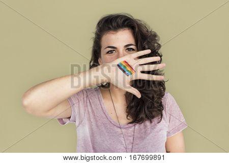 Woman Casual LGBT Portrait Photography Concept
