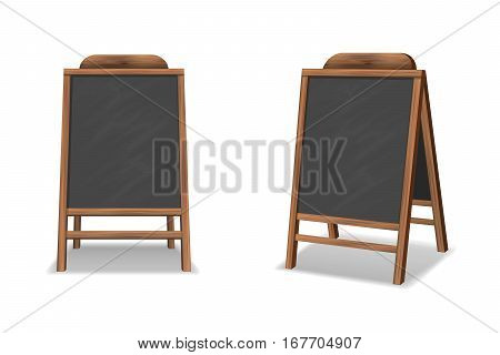 Special menu announcement board. Vector clean restaurant outdoor blackboard background. Chalkboard for menu restaurant illustration