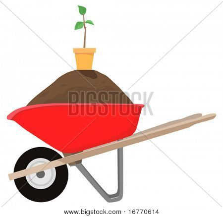 Buy the wheelbarrow and get the dirt, pot, and sapling FREE. While supplies last.