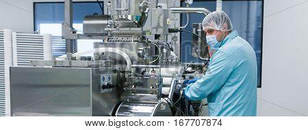 Widescreen Picture, Scientist Configures Machine