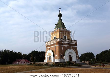 Lesnaya (Forest) village - near Mogilev, Belarus - August 20, 2014 - Memorial Church behalf of the Apostles Peter and Paul in August 20, 2014, Lesnaya, Belarus
