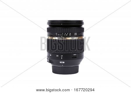 Kyiv, Ukraine - February 28, 2016: Tamron 17-50Mm F/2.8 Sp Af Xr Di Ii Vc Ld Lens For  Dslr Nikon Ca