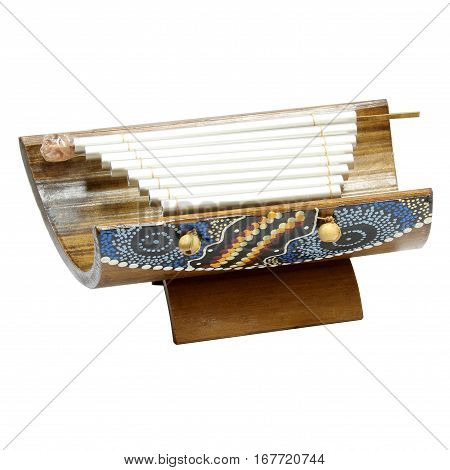 Xylophone musical instrument on a white backround