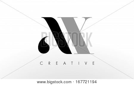 A X Letter Logo Design. Creative Modern AX Letters Icon Illustration.