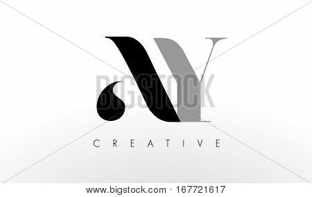 A Y Letter Logo Design. Creative Modern AY Letters Icon Illustration.