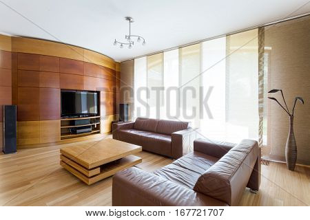 Elegant Room With Home Cinema System