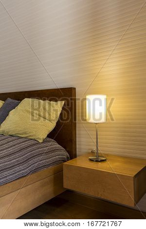 Cosy Bedroom With Bedside Cabinet