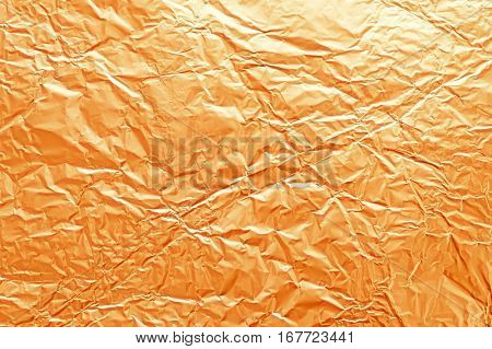 Texture Of Crumpled Metal Gilded Foil