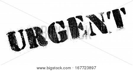 Urgent rubber stamp. Grunge design with dust scratches. Effects can be easily removed for a clean, crisp look. Color is easily changed.