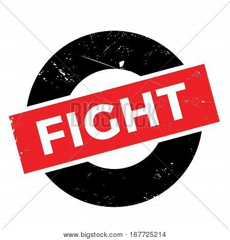 Fight rubber stamp. Grunge design with dust scratches. Effects can be easily removed for a clean, crisp look. Color is easily changed.