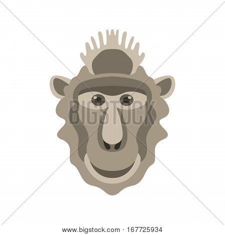 monkey head mask   vector illustration style Flat